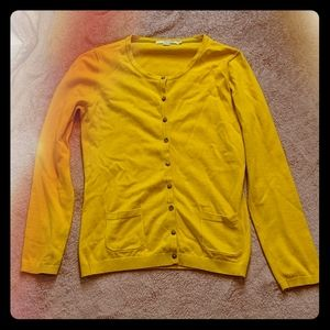 Boden Gold Button Up Cardigan